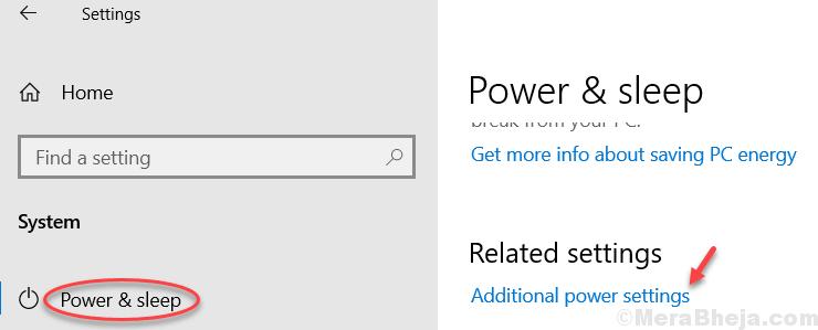 Additional Power Settings Min