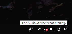 Audio Service Not Running