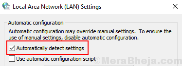 Automatially Detect Settings Min