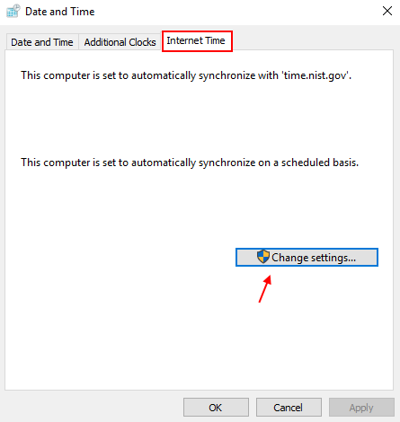 Change Date Time Settings