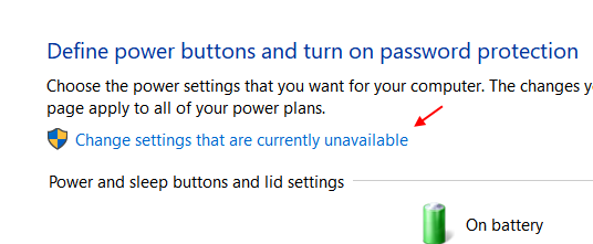 Change Settings Currently Unavailable