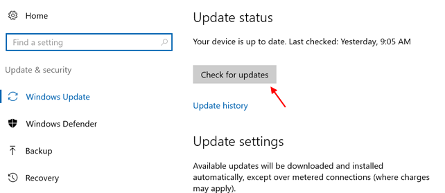 Check For Updates Windows Hello