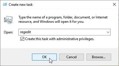 Regedit Admin Task Manager