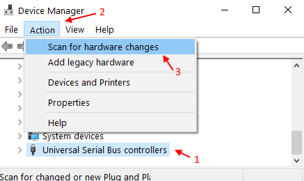 Scan Hardware Changes Min