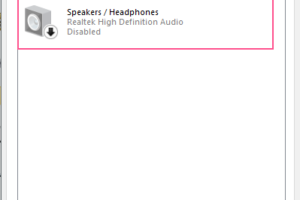 Sound Settings Playback Devices