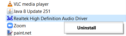 Uninstall Realtek Hd Audio Driver