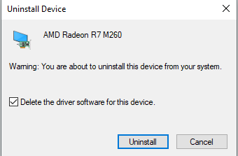 Unistall Faulty Driver