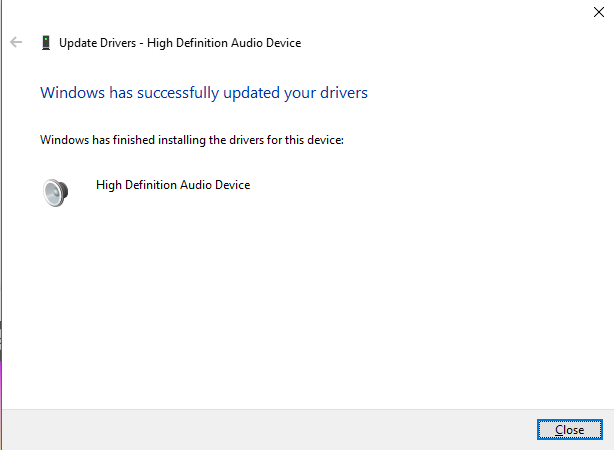 Updated Audio Driver