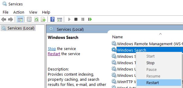 Windows Search Restart Min