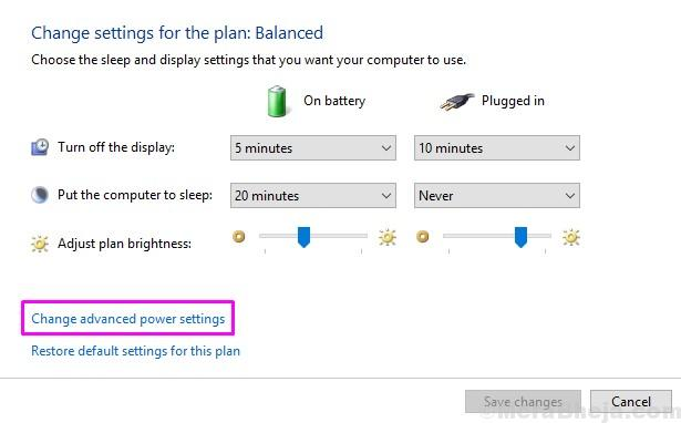 Change Advanced Power Settings 1