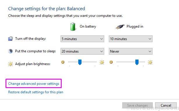 Change Advanced Power Settings 1