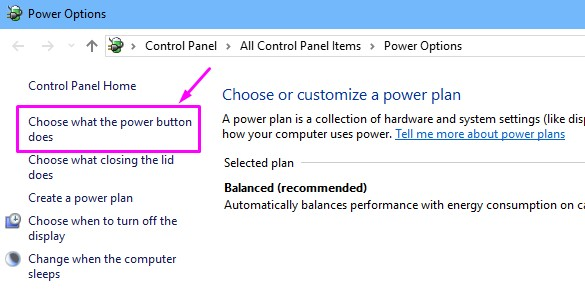 Choose What A Power Button Does