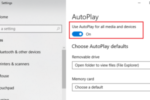 Disable Autoplay Through Windows 10 Settings