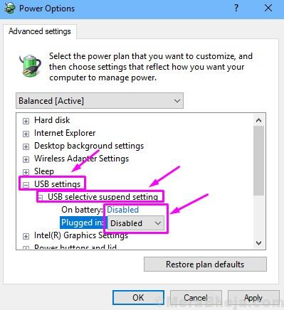 Disable Usb Selective Suspend Setting