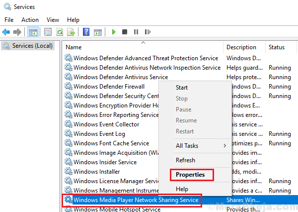 Disable Windows Media Player Network Sharing Service