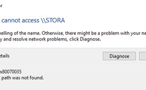 Error Code 0x80070035 The Network Path Was Not Found