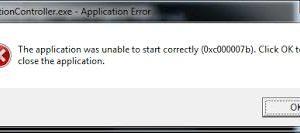 Fix Application Error 0xc000007b