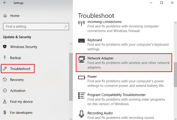 Network Troubleshooter