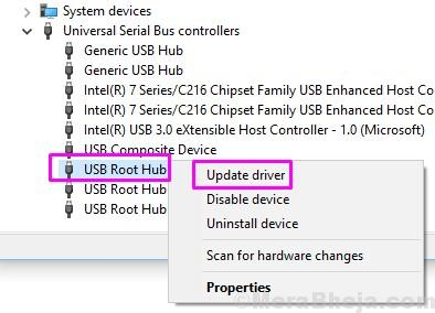 Usb Root Hub Update Driver