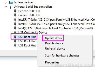 Usb Root Hub Update Driver