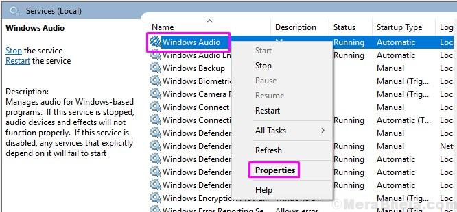 Windows Audio Properties