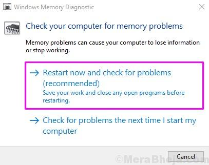 Windows Memory Diagnostic 1