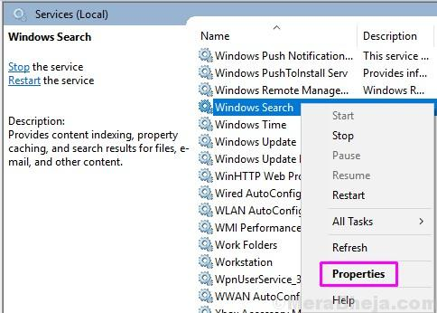 Windows Search Properties Services