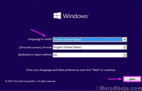 Windows Setup Language 1 1 1