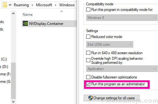 Admin Container Nvidia Control Panel Missing Windows 10