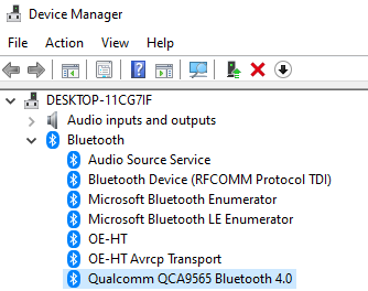 Bluetooth Device Device Manager