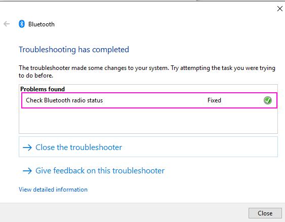 Bluetooth Problem Fix
