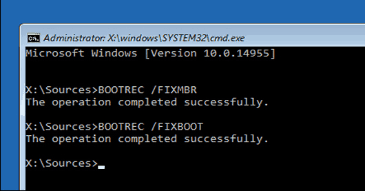 Bootrec Fix The Drive Where Windows Is Installed Is Locked Windows 10 Error