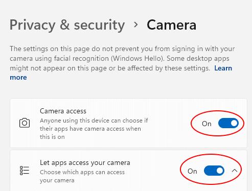 Camera Access On Min