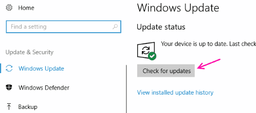 Chk Updates Fix Driver Power State Failure Error Windows 10