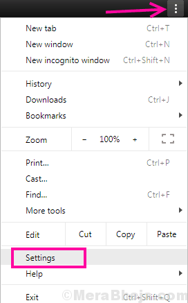 Chrome Menu Err Network Changed Chrome