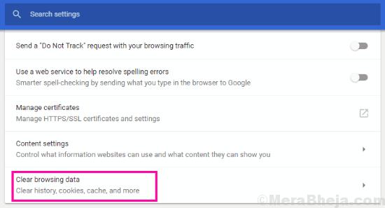 Clear Err Network Changed Chrome