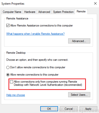 Disable Nla Windows 10 Min