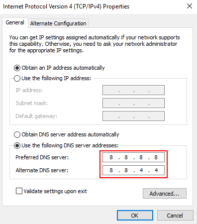 Dns Address Google