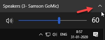 Expand Volume Options Taskbar