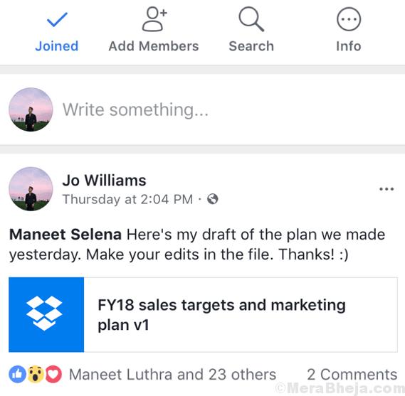 Facebook Workplace Min Min