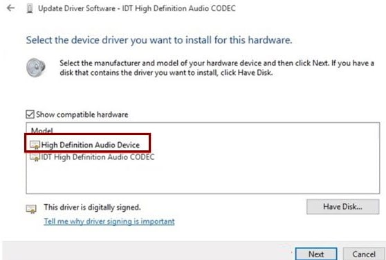 Idt High Definition Audio Driver Min