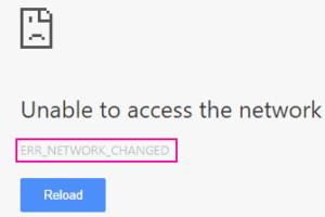 Main Err Network Changed Chrome
