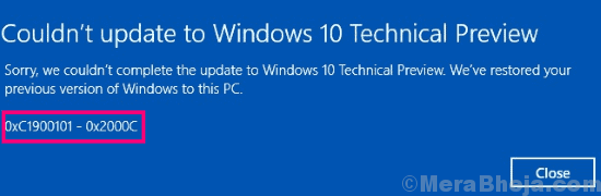 Main Fix 0xc1900101 Windows 10 Error