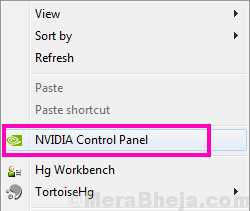 Main Nvidia Control Panel Missing Windows 10