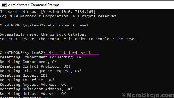 Netsh Int Ipv4 Reset