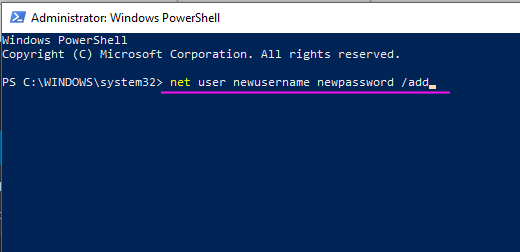 Powershell Admin Command