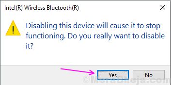 Promt Disable Bluetooth