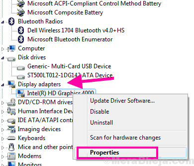 Properties Display Driver Failed To Start Windows 10
