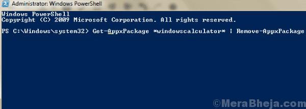 Pwrshell Code 1 Windows 10 Calculator Not Working