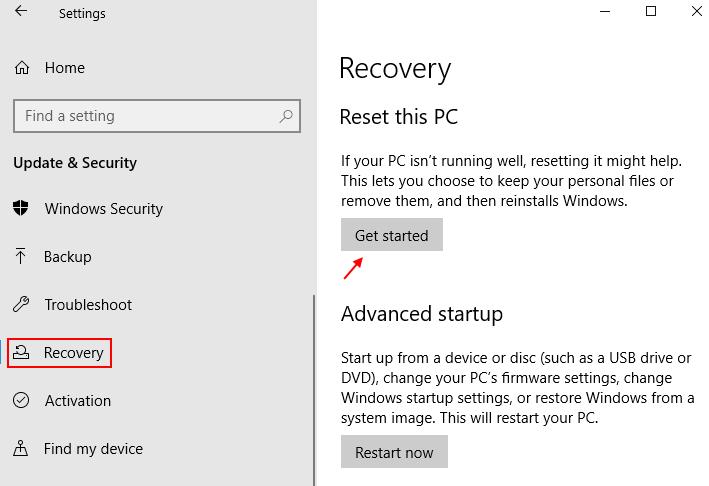 Reset Windows 10 Min